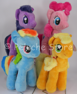 My Little Pony peluche 28 cm Velluto Rainbow Dash Apple Jack Pinkie Pie