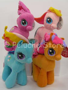 My Little Pony peluche 20 cm Pinkie Pie Rainbow Dash Apple Jack Originale
