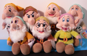Disney Sette Nani peluche 35 cm nome in inglese
