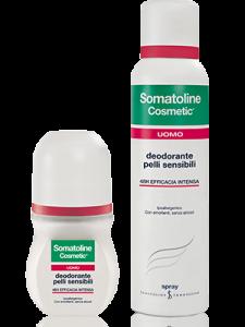 SOMATOLINE DEODORANTE PELLI SENSIBILI UOMO - SPRAY 150 ML, VAPO 75 ML