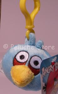 Angry Birds Blues Azzurro peluche 8 cm Portachiavi Gancio Moschettone Originale