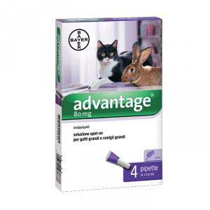 Antiparassitario Gatti Advantage Spot-On 80 Mg per gatti grandi - Bayer