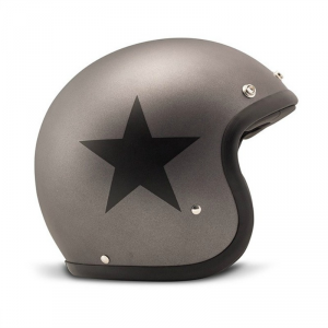 DMD VINTAGE STAR GREY Jet Helmet - Grey
