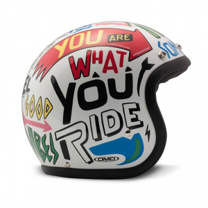 DMD VINTAGE WORDS Jet Helmet - Multicolor