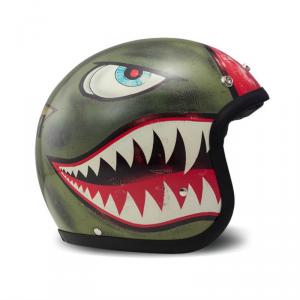 DMD VINTAGE SHARK Jet Helmet - Green