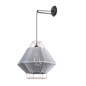 LEGATO lampada sospensione grigia H 180 cm