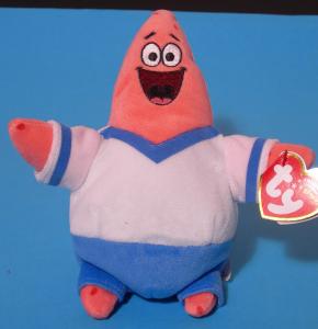 Spongebob Patrick Calcio peluche 20 cm Qualità Velluto TY Originale