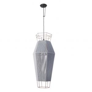 LEGATO lampada sospensione grigia H 230 cm