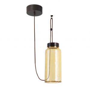 Lampada sospensione ambra RAW LED 14W