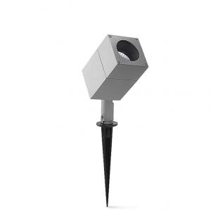 Faro per esterno ICARO alluminio grigio GU10 H20cm