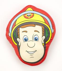 Sam il Pompiere Cuscino Sagomato Peluche 40 cm Qualità Velluto Originale