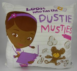 Disney Dottoressa Peluche cuscino quadrato Bianco 35 cm Dottie Qualità Velluto