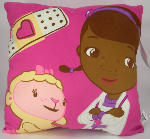 Disney Dottoressa Peluche cuscino Viola quadrato 35 cm Dottie Lambie