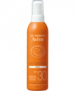 SPRAY SOLARE 30 RESISTENTE ALL'ACQUA  AVENE - PELLI SENSIBILI