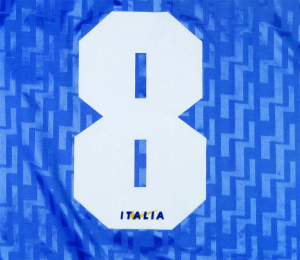 1995 Italia Maglia Home Match Worn #8 Conte L (Top)