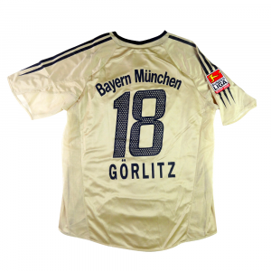 2004-05 Bayern Monaco Maglia Away Match Worn #18 Görlitz XL (Top)