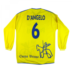 2001-02 Chievo Verona  Maglia Home Match Worn #6 D'Angelo L (Top)