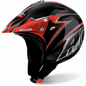 CASCO MOTO AIROH JET EVERGREEN CARBON GLOSS ECA17