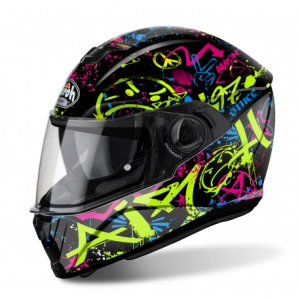 CASCO MOTO AIROH STORM COOL BICOLOR GLOSS STCB17