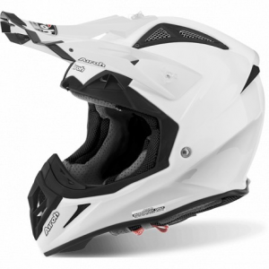 CASCO MOTO CROSS AIROH AVIATOR 2.2 COLOR WHITE GLOSS AV2214