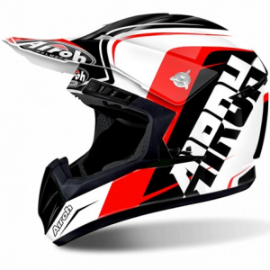 CASCO MOTO CROSS AIROH SWITCH SIGN RED GLOSS SWSI55
