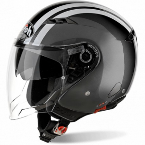 CASCO MOTO AIROH JET CITY ONE FLASH ANTHRACITE GLOSS COF21