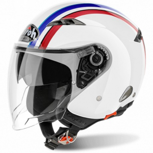 CASCO MOTO AIROH JET CITY ONE STYLE WHITE GLOSS COS38