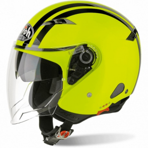 CASCO MOTO AIROH JET CITY ONE FLASH YELLOW GLOSS COF31