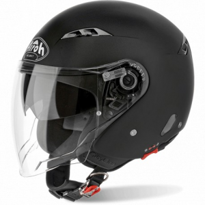 CASCO MOTO AIROH JET CITY ONE COLOR BLACK MATT CO11