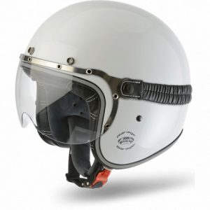 CASCO MOTO AIROH JET GARAGE COLOR WHITE GLOSS GA14
