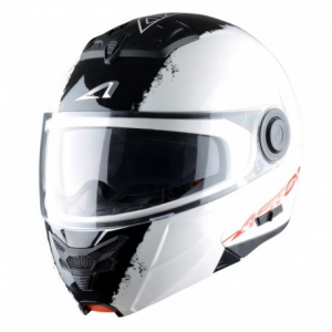 CASCO MOTO MODULARE ASTONE RT800 STRIPES WHITE