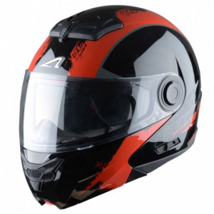 CASCO MOTO MODULARE ASTONE RT800 VENOM BLACK RED