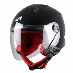 CASCO MOTO JET ASTONE MINIJET BLACK GLOSS