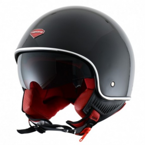 CASCO MOTO JET ASTONE MINIJET RETRO' GLOSS BLACK