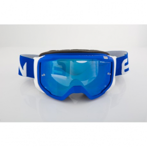 OCCHIALI MOTO CROSS ETHEN ZEROSEI GP0601 BLUE WHITE LENTE BLU