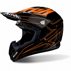 CASCO MOTO CROSS AIROH SWITCH SPACER ORANGE GLOSS SWSP32