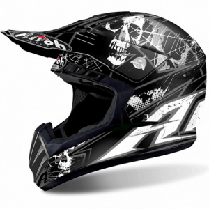 CASCO MOTO CROSS AIROH SWITCH SCARY BLACK MATT SWSC11