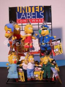 Simpson mini peluche portachiavi 10 cm Gancio Metallo Originale