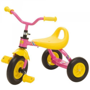 TRICICLO JUMBO ROSA C/RUOTE SILEZIOSE 80622 ROLLY TOYS