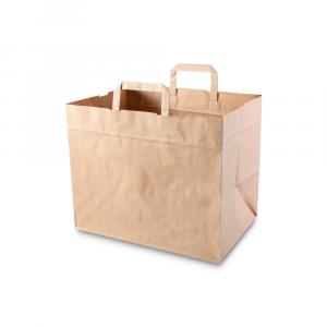 Shopper carta riciclata fondo largo per asporto maxi
