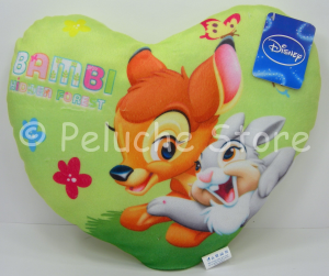 Disney Animal Friends Bambi e Timpete cuscino cuore 33 cm Originale