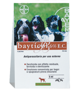 Antiparassitari cane Bayticol Bayer 5 ml
