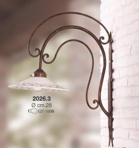 Applique collezione portici ceramica bianca profilo blu Ceramiche Borso Collection mod. 2026.3