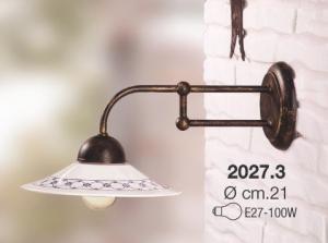 Applique collezione portici ceramica bianca profilo blu Ceramiche Borso Collection mod. 2027.3