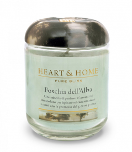 Candela in cera di soia - Foschia dell'alba- Heart & Home