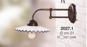 Applique collezione portici ceramica bianca profilo blu Ceramiche Borso Collection mod. 2027.1