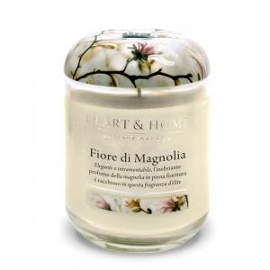 Candela in cera di soia - Fiore di Magnolia - Heart & Home