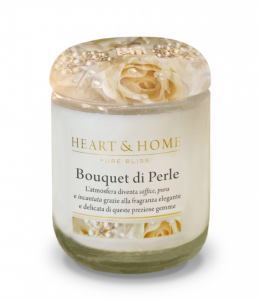 Candela in cera di soia - Bouquet di Perle - Heart & Home