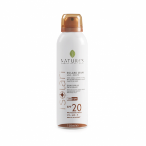 Spray Solare viso/corpo SPF20 150ml - Nature's