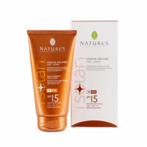 Crema solare SPF 15 viso/corpo 150ml - Nature's